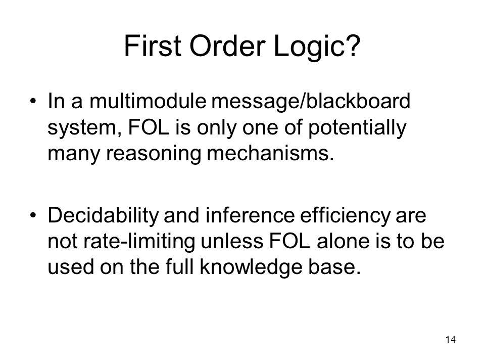 14 First Order Logic.