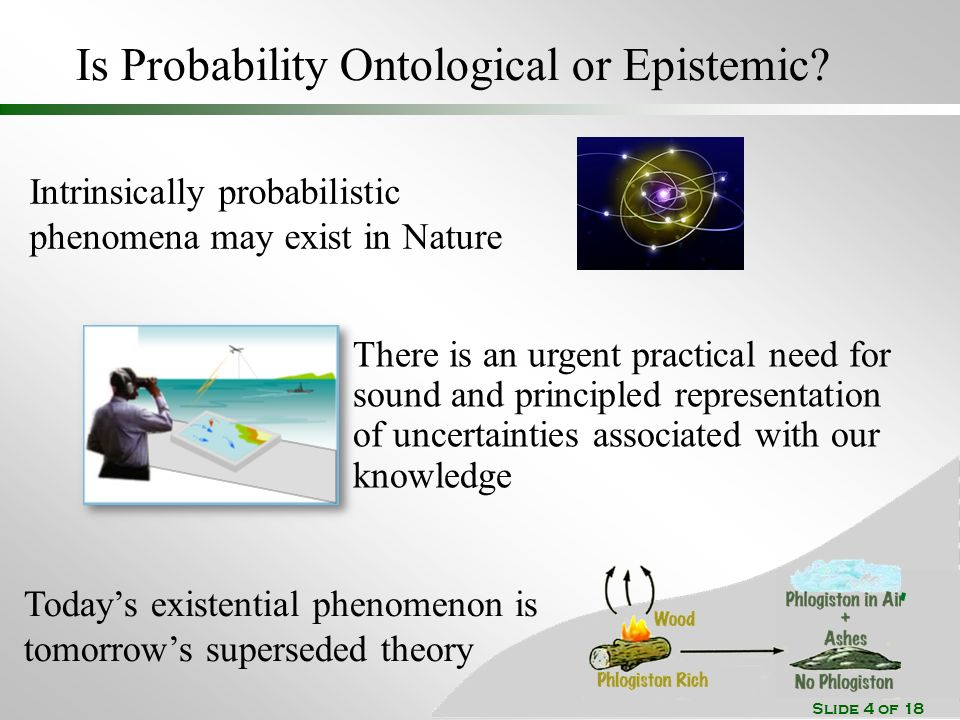 Slide 4 of 18 Is Probability Ontological or Epistemic.