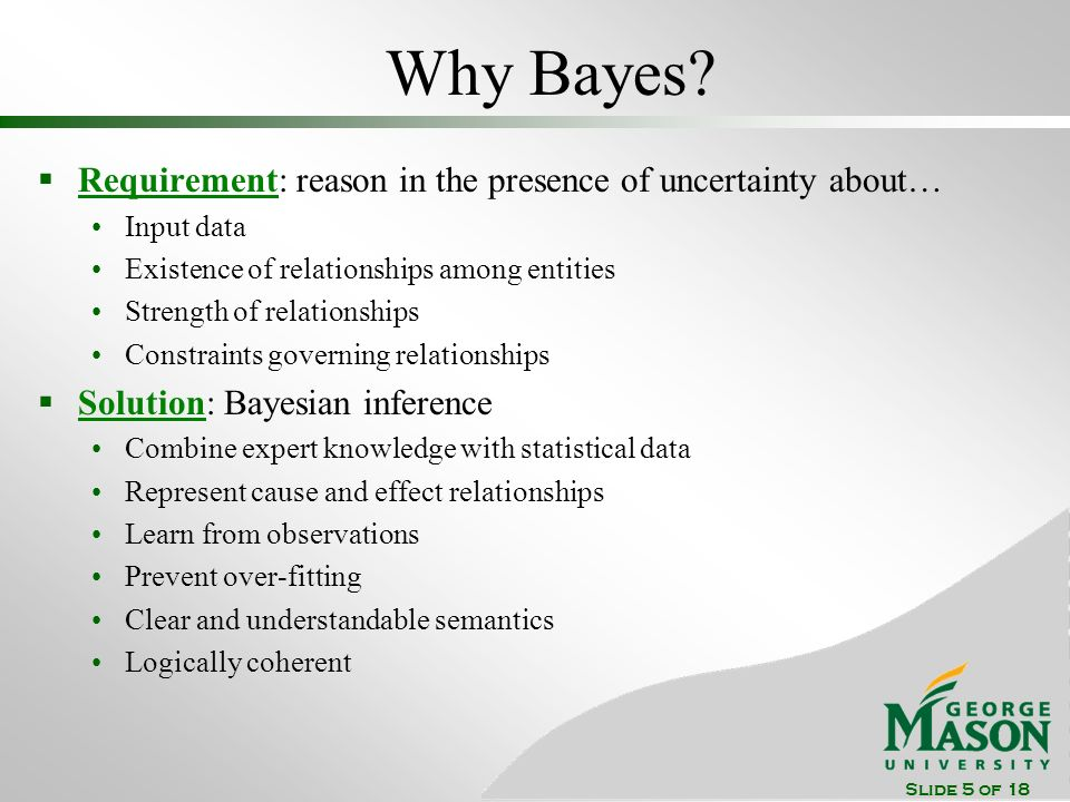 Slide 5 of 18 Why Bayes.