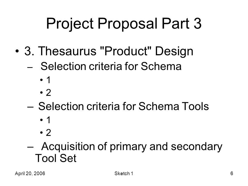 April 20, 2006Sketch 16 Project Proposal Part 3 3.