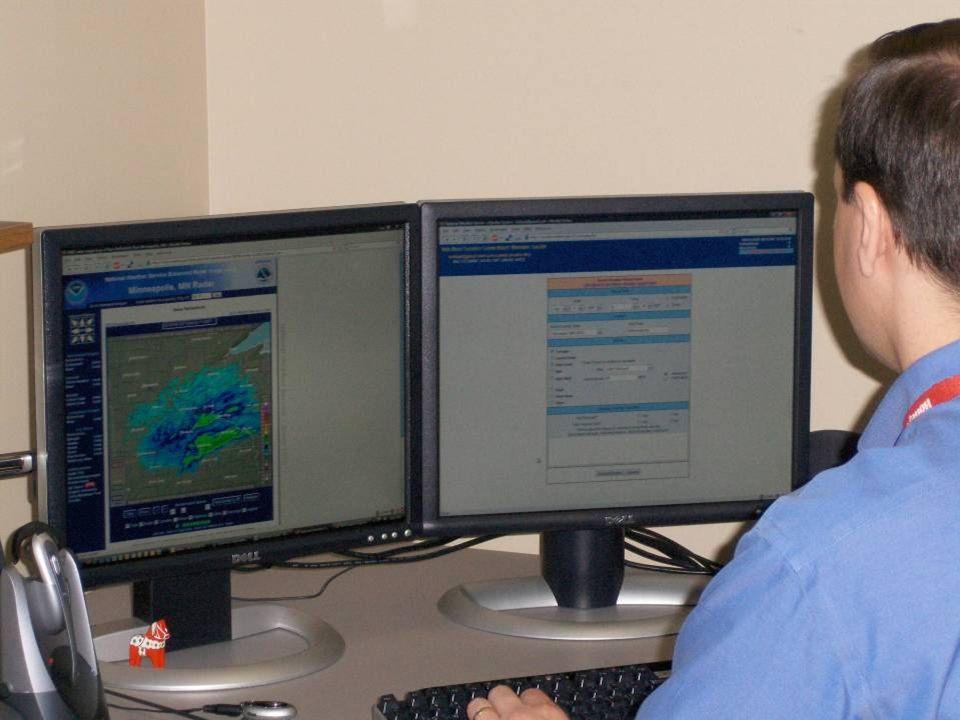 17 Skywarn storm spotter at work
