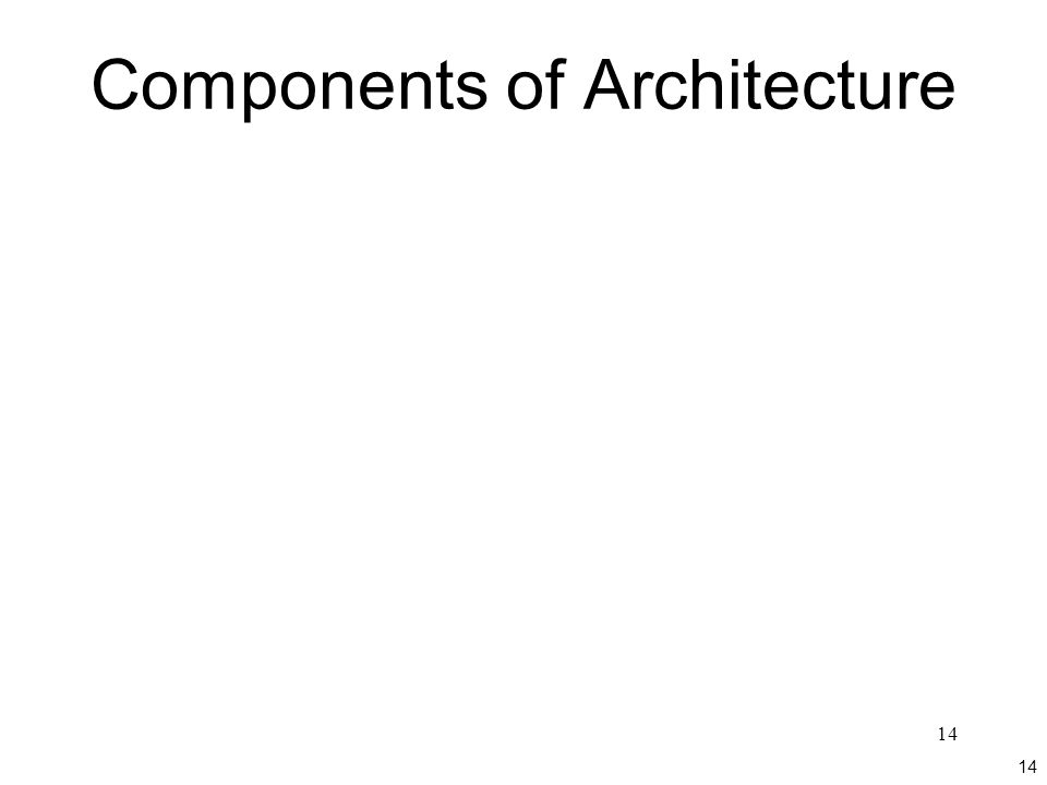 14 Components of Architecture