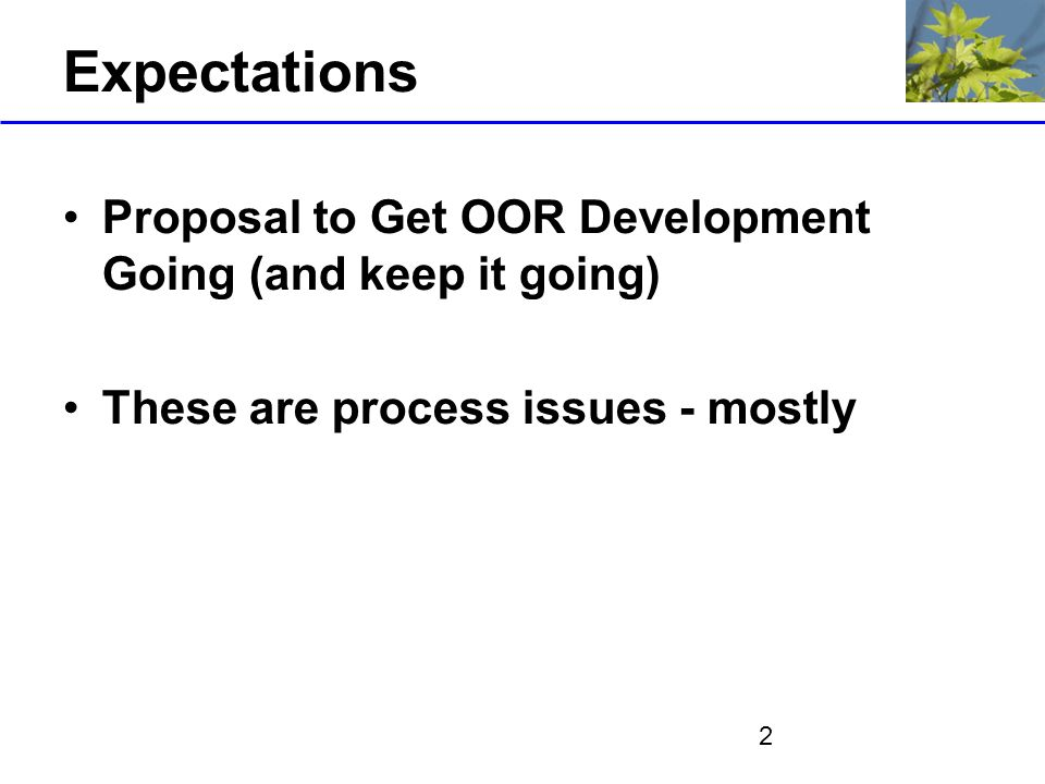 3 Assumptions OOR Supports Evolutionary Development Partitioning of Functionality OOR does not store instance data apart from that of the OOR infrastructure (resolved?) OOR Supports arbitrary representation languages –Repository architecture (mostly) independent of language –Initial support for OWL Meta/Provenance information crucial Standards based to extent possible