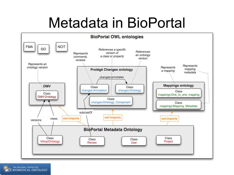 Metadata in BioPortal