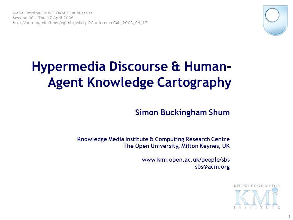 © Simon Buckingham Shum 21 Annotating a document corpus: Chomskys article in the Iraq Debate http://kmi.open.ac.uk/projects/compendium/iraq