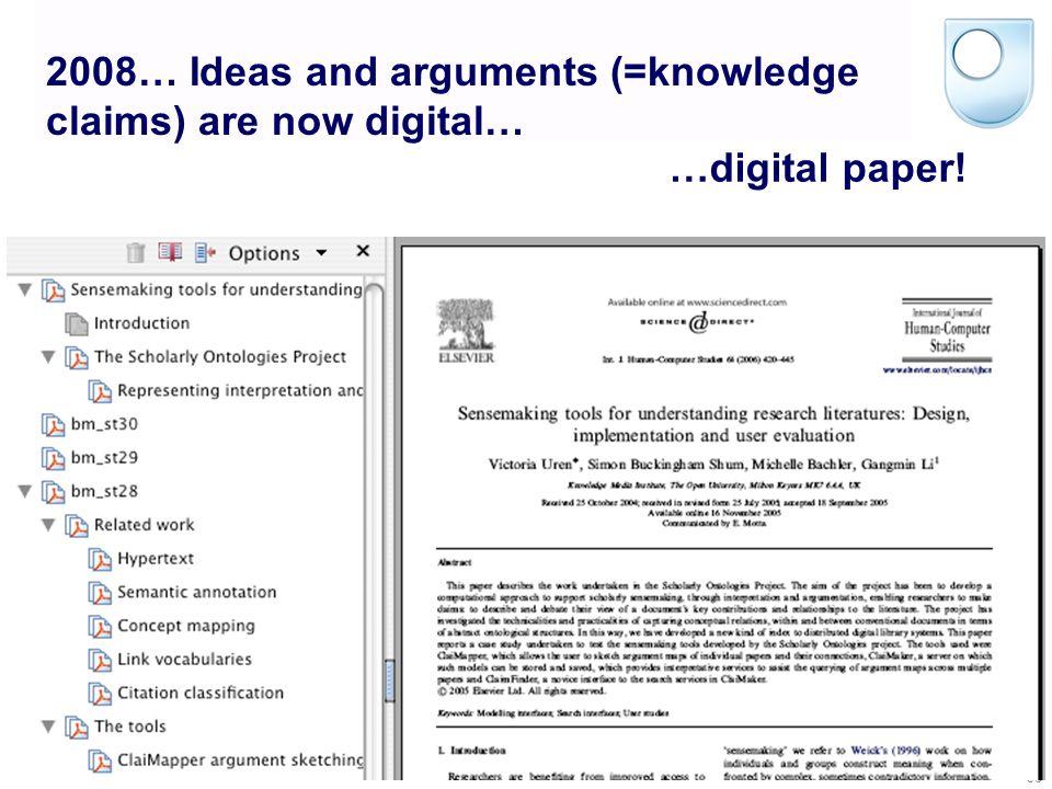 © Simon Buckingham Shum 35 Jumping forward 343 years… Buckingham Shum, S. (2007). Digital Research Discourse? Computational Thinking Seminar Series, S
