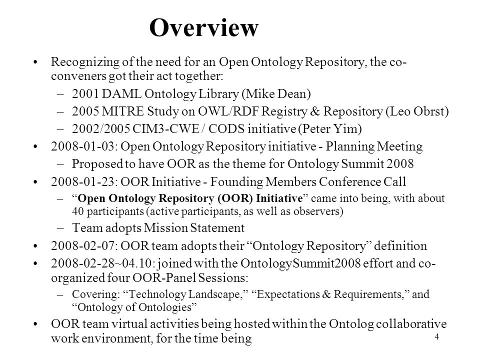 15 Whats in OpenCyc Doug Lenat (#$isa 596215) (#$genls 99198) (#$disjointWith 6114) (#$resultIsa 4277) (#$resultGenl 1206) (#$argIsa 35617 (#$argGenl 5398) (#$arg1Isa 16748) (#$arg1Genl 2354) (#$arg2Isa 14114 (#$arg2Genl 2283) (#$arg3Isa 3486) (#$argFormat 5493) (#$arg2Format 3320) (#$functionalInArgs 1427) (#$arity 16416) (#$arityMin 958) (#$comment 57305) (#$genlPreds 7440) (#$negationInverse 990) (#$genlMt 26078) (#$denotationInEnglish 409745) (#$synonymousExternalConcept 13916) Explicitly: 300k terms; 14k predicates; 57k classes; 2 million assertions Implicitly: There are infinitely more nonatomic terms and inferred assertions More subtle but crucial point: There are infinitely many contexts (microtheories) defined compositionally rather than having only explicitly reified contexts This means there are 596k isa assertions in OpenCyc E.g., mapping between a term in OpenCyc and a WordNet synset