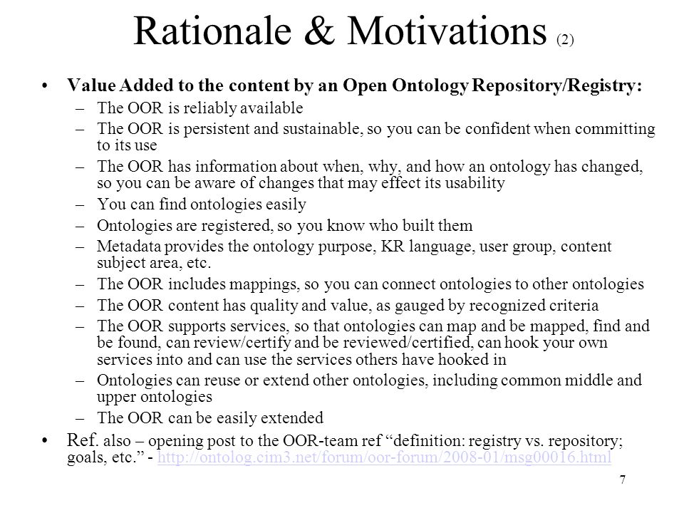 28 To Enable the Management and Services specified in the Requirements we need to capture a set of metadata about the ontologies … here are some of the input from the 2008.04.10 Panel Session On Ontology of Ontologies