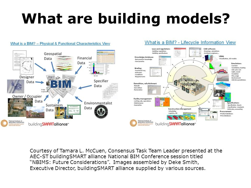 What are building models. Courtesy of Tamara L.