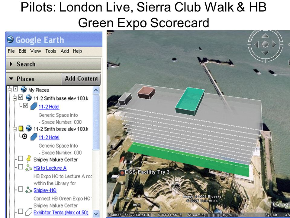 Pilots: London Live, Sierra Club Walk & HB Green Expo Scorecard