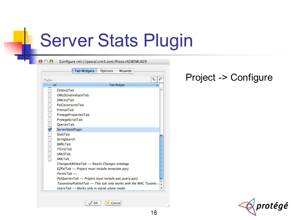 16 Server Stats Plugin Project -> Configure
