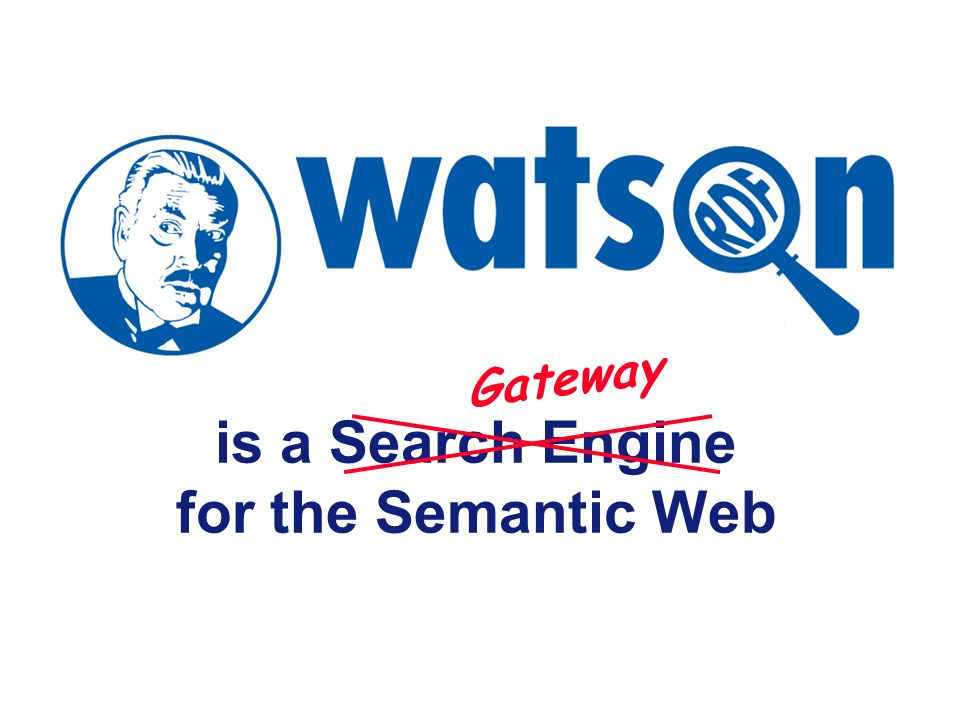 Slide 15 But… But Watson is a Semantic Web search engine, not an Ontology Repository…