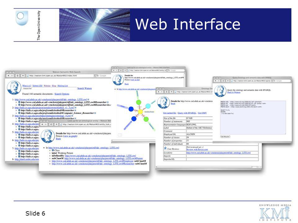 Slide 7 Web Interface Advanced Keyword Search
