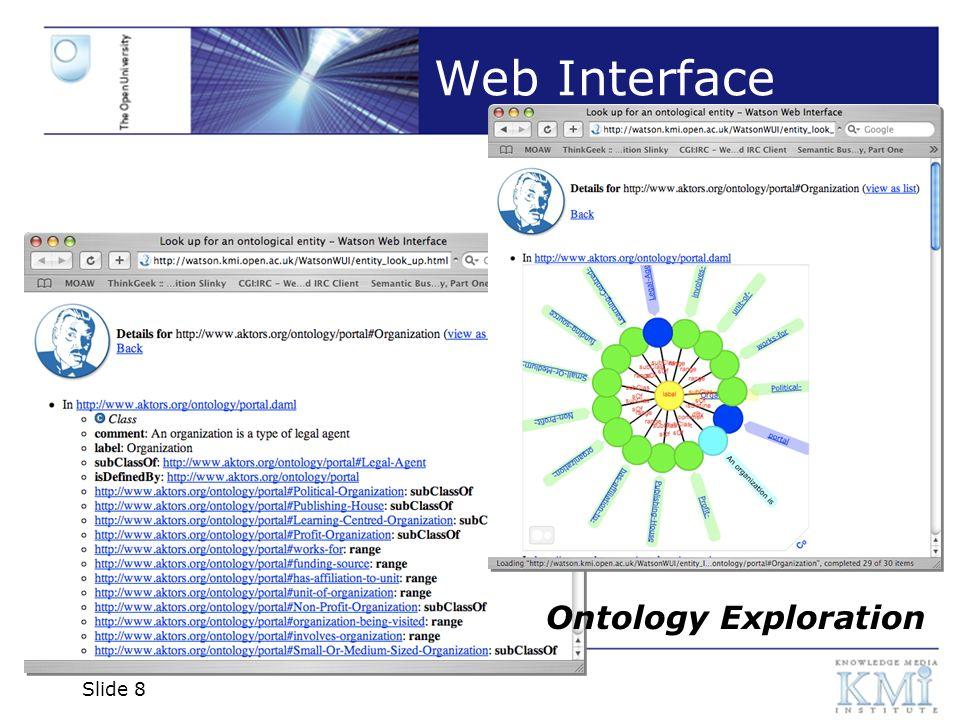 Slide 9 Web Interface Ontology Metadata