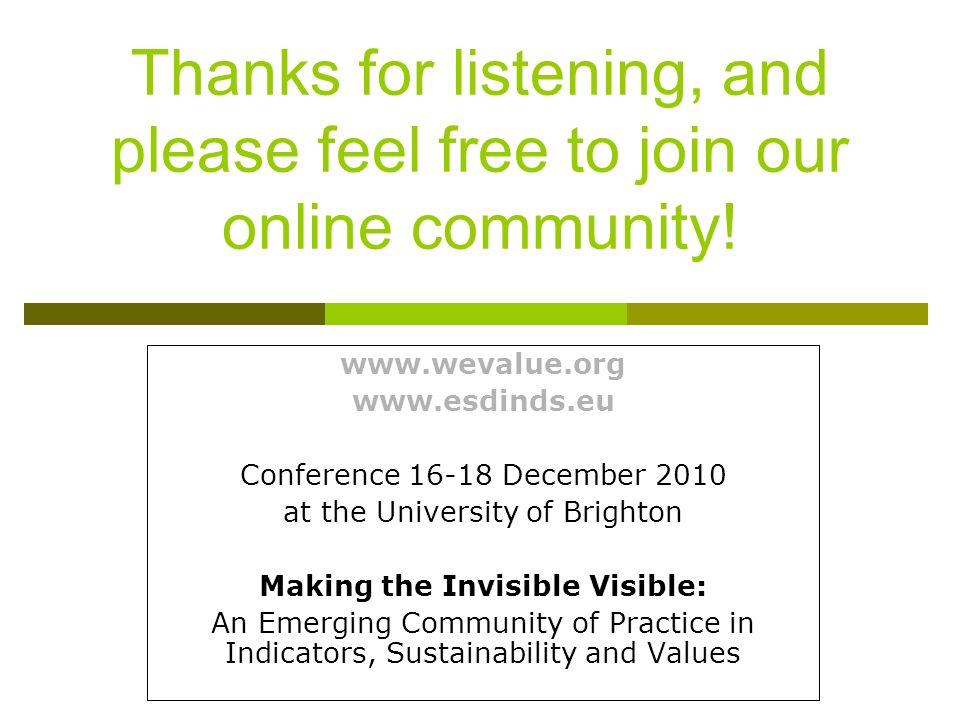 Thanks for listening, and please feel free to join our online community.