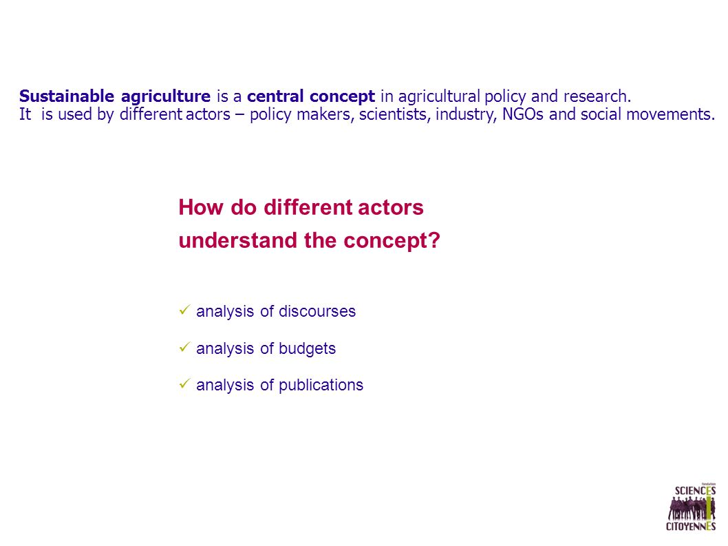 Sustainable agriculture is a central concept in agricultural policy and research.