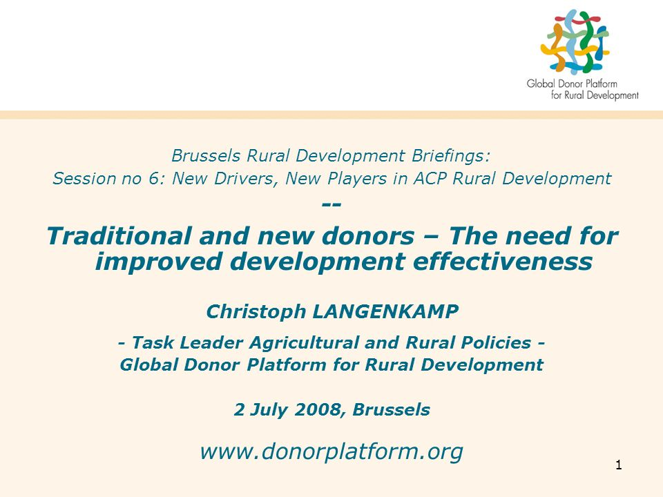2 What is the Global Donor Platform for Rural Development.