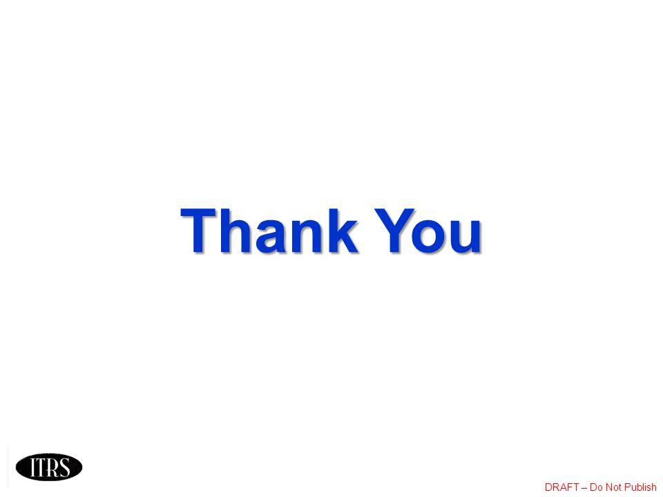 DRAFT – Do Not Publish Thank You