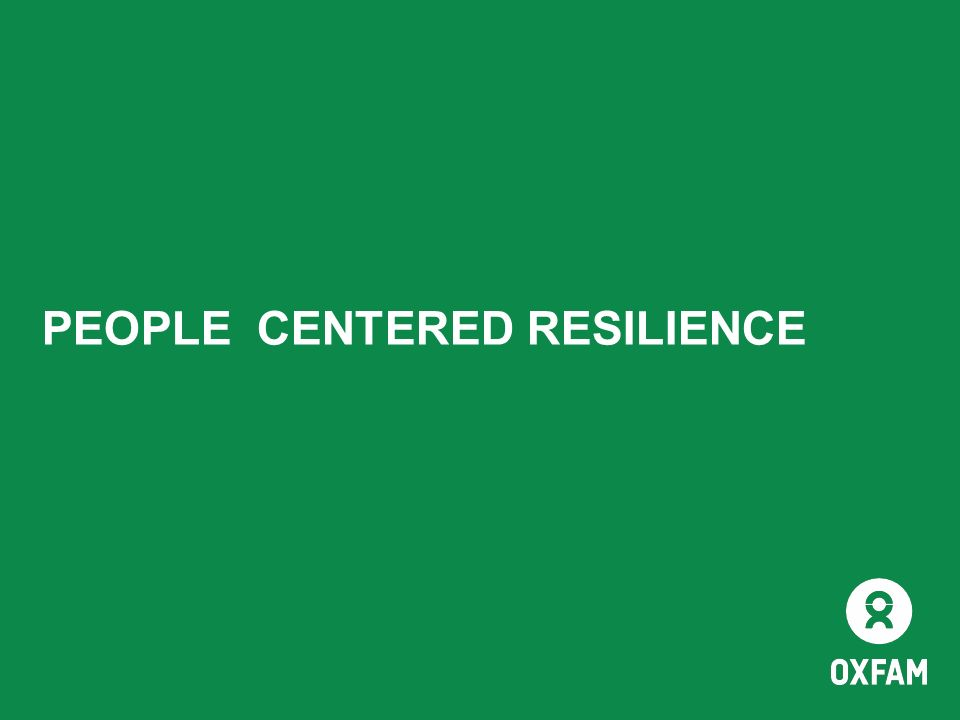 PEOPLE CENTERED RESILIENCE