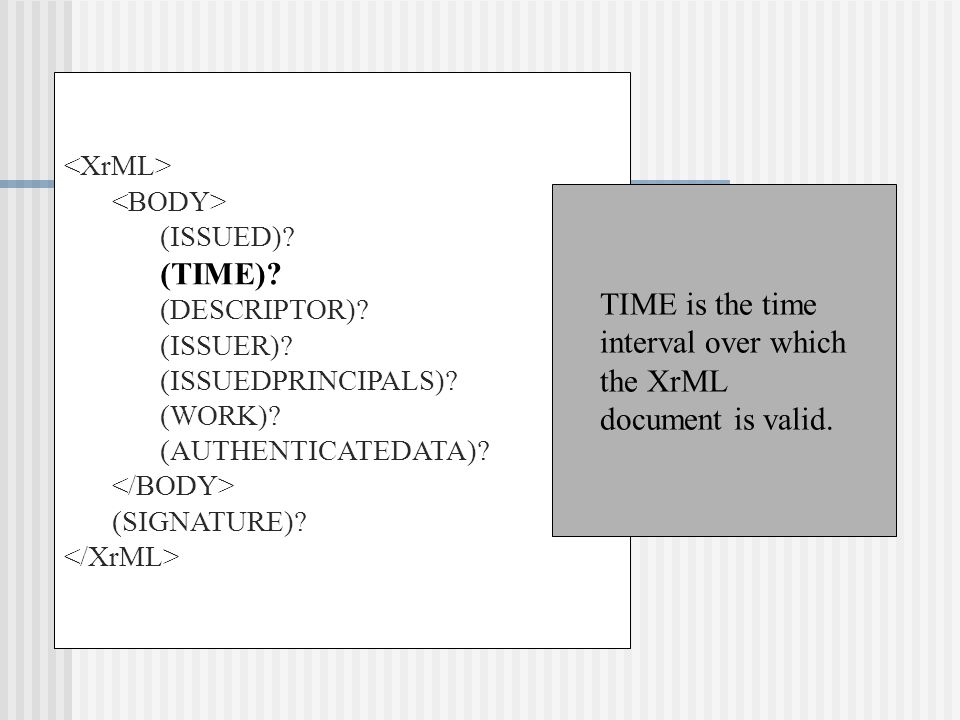 (ISSUED). (TIME). (DESCRIPTOR). (ISSUER). (ISSUEDPRINCIPALS).