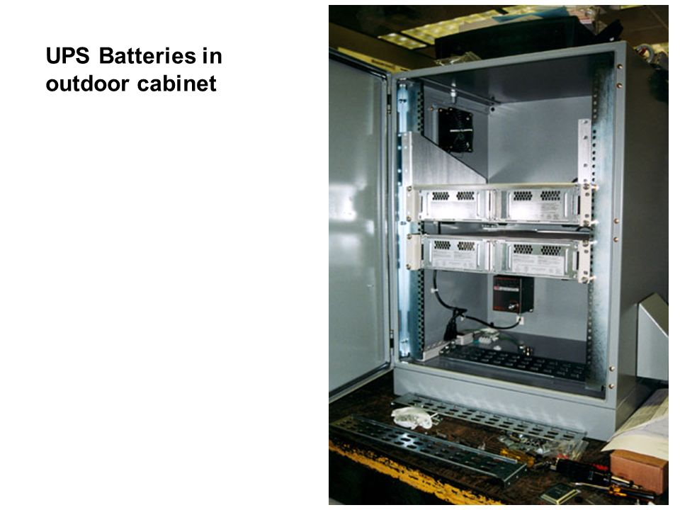 UPS Batteries in outdoor cabinet
