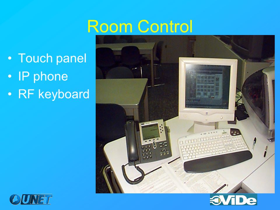 Room Control Touch panel IP phone RF keyboard