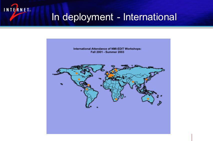 In deployment - International