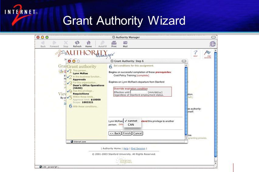 Grant Authority Wizard