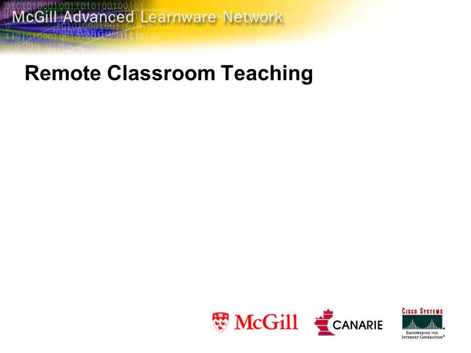 Remote Classroom Teaching