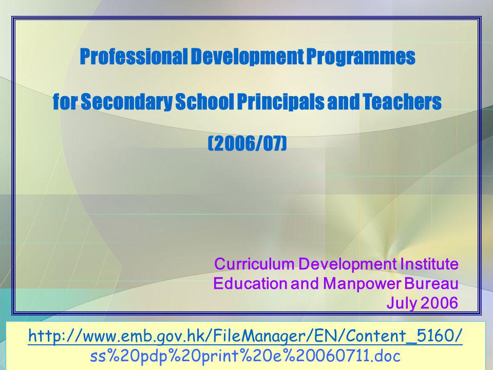 46 Other Support Measures Professional development (in-service) programmes (annual calendar) Learning and teaching resources (packages, internet) Research and Development (Seed ) Projects Seconded Teachers Quality Education Fund Primary School Curriculum Leader Initiative