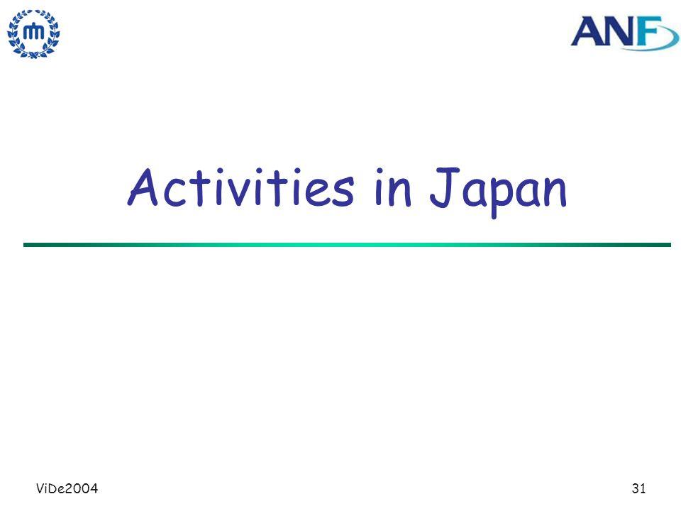 ViDe200431 Activities in Japan
