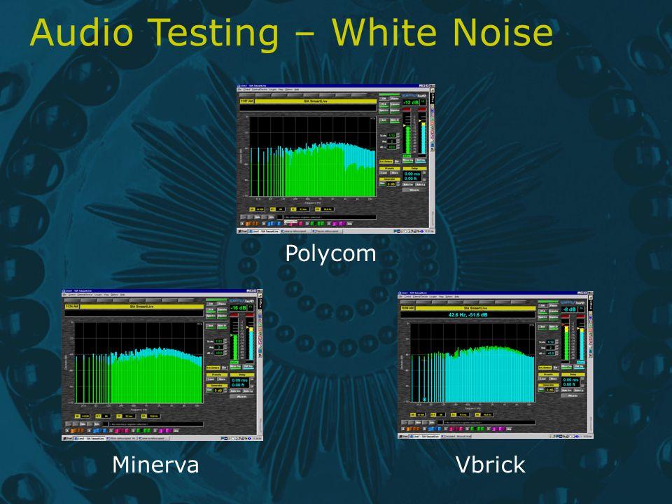 Audio Testing – White Noise Polycom MinervaVbrick