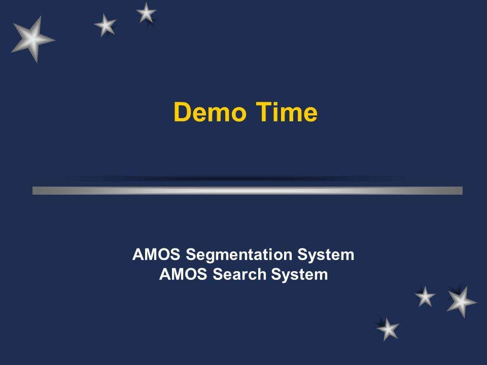Demo Time AMOS Segmentation System AMOS Search System