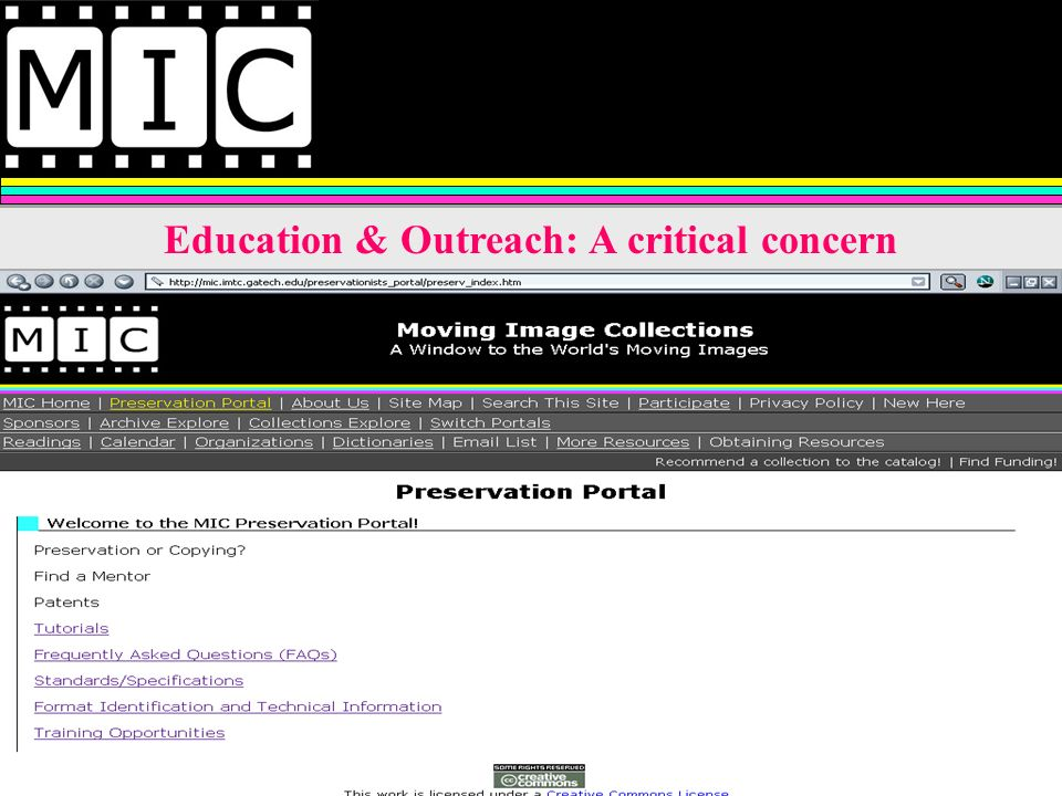 Education & Outreach: A critical concern