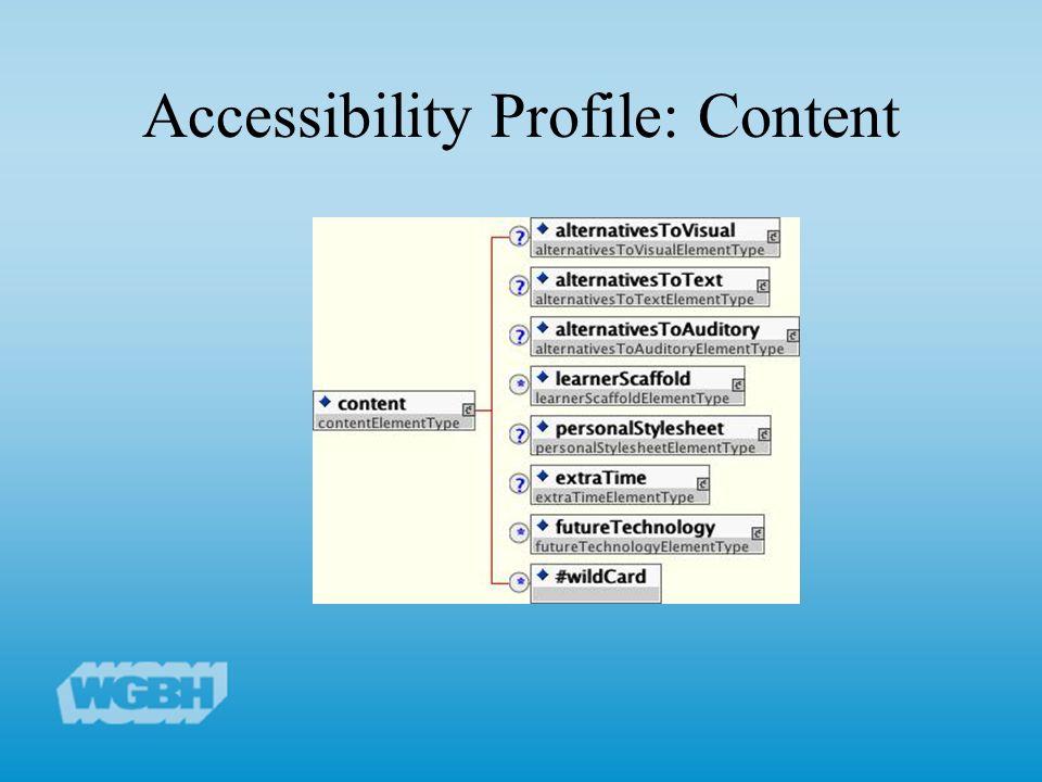 Accessibility Profile: Content