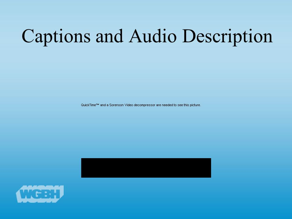 Captions and Audio Description