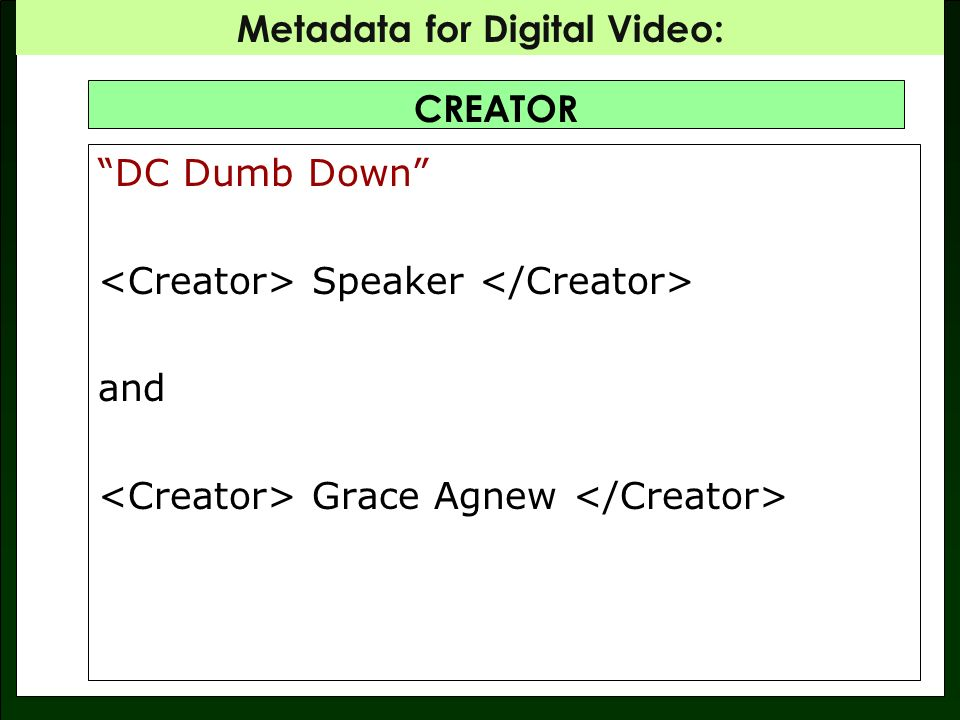 CREATOR DC Dumb Down Speaker and Grace Agnew