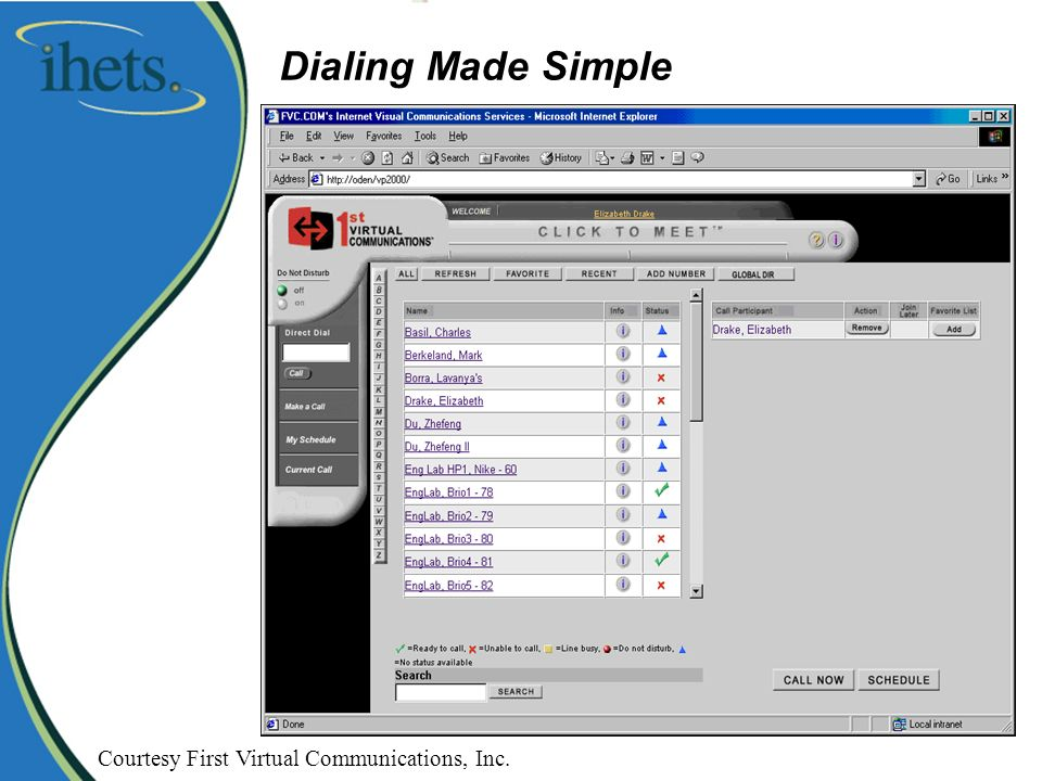 Dialing Made Simple Courtesy First Virtual Communications, Inc.
