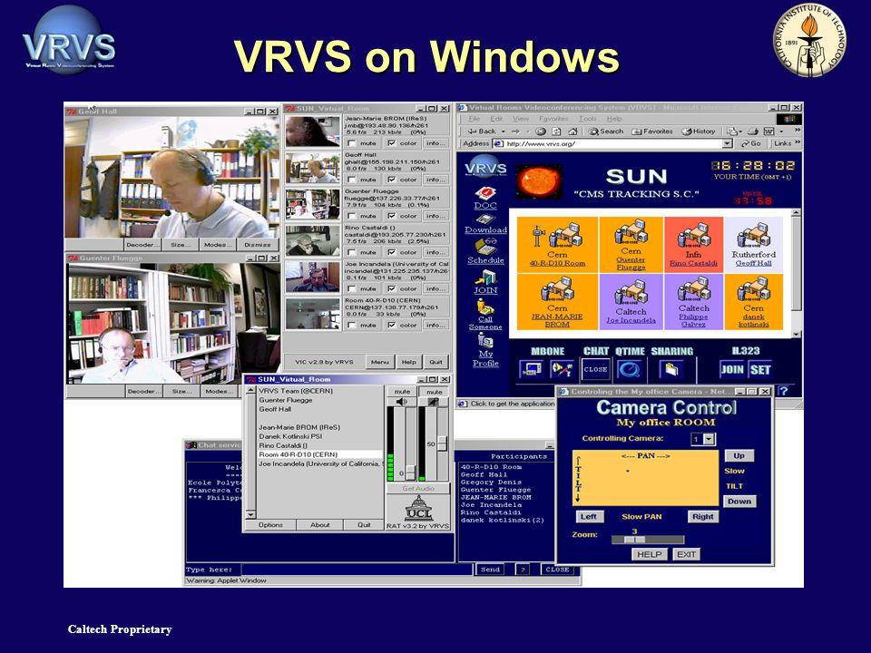 Caltech Proprietary VRVS on Windows