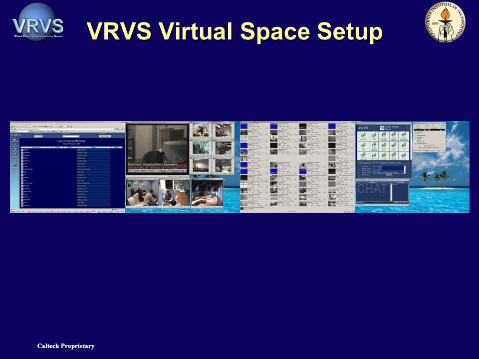 Caltech Proprietary VRVS Virtual Space Setup
