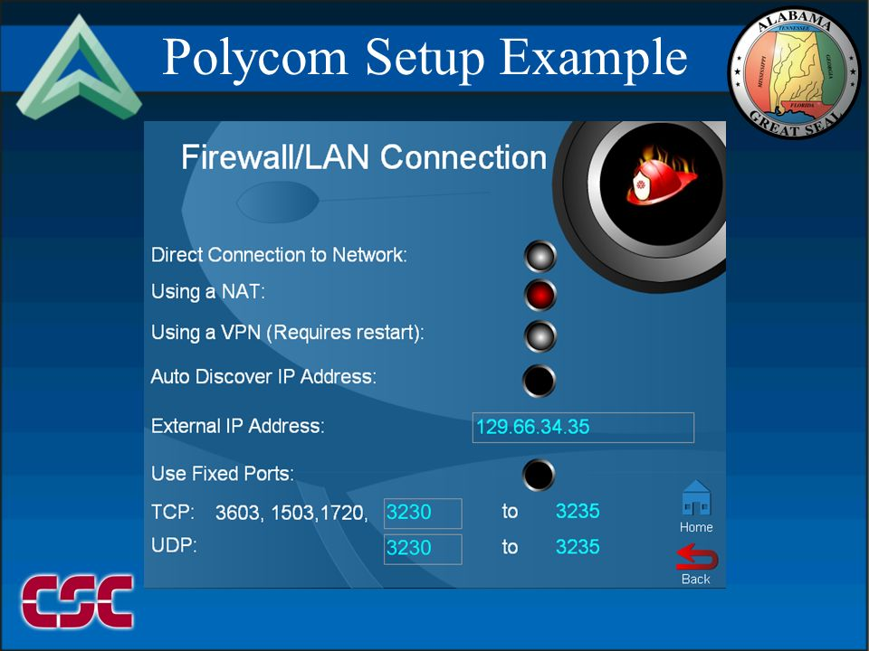 09999/2106 Polycom Setup Example