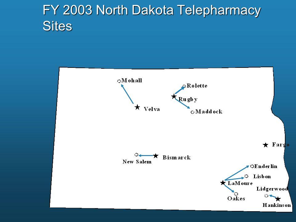 FY 2003 North Dakota Telepharmacy Sites