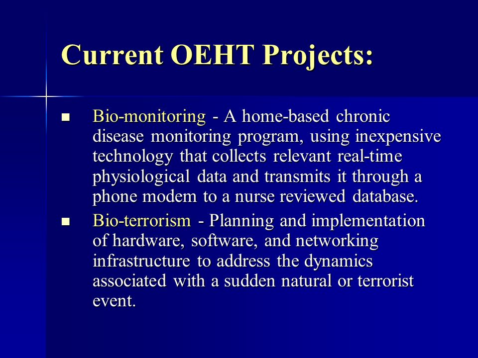 OEHT Demo Lab Testing: The following medical devices were connected to the USA OEHT demonstration lab computer using a video switcher connected to a USB video capture device: