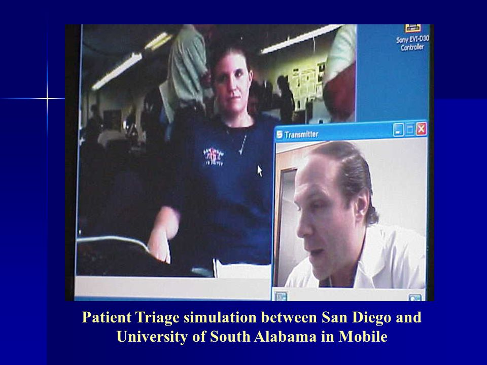 Patient Triage simulation between San Diego and University of South Alabama in Mobile
