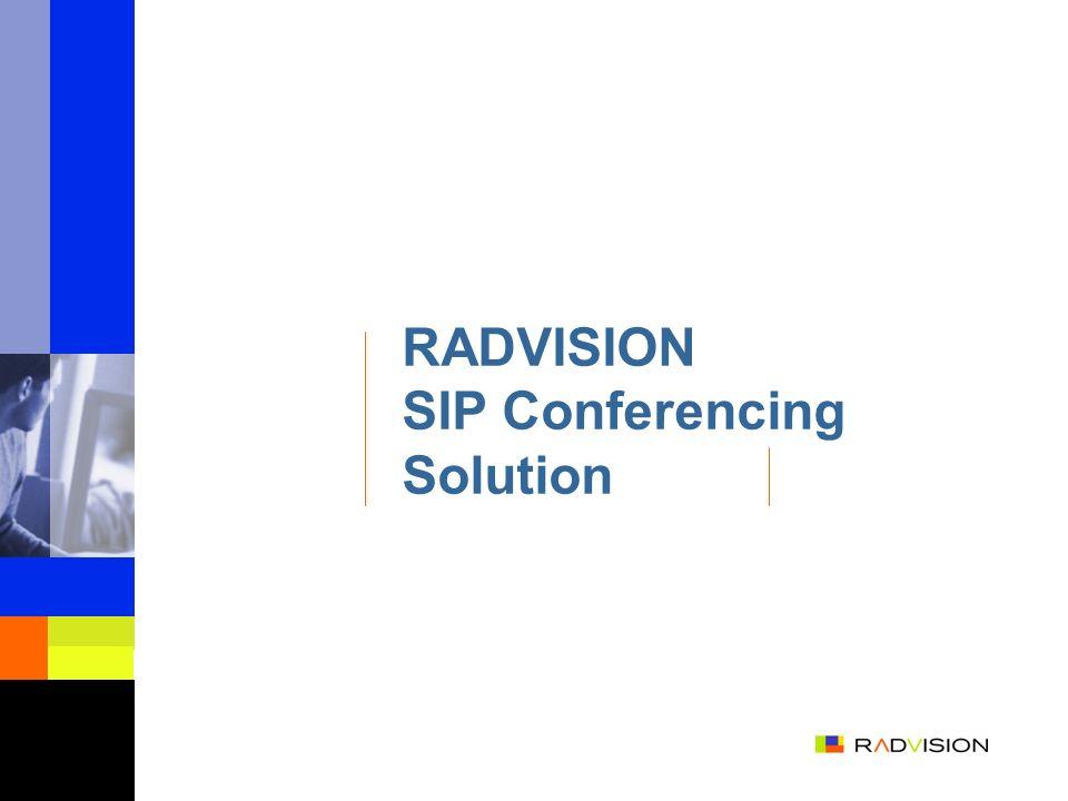 RADVISION SIP Conferencing Solution