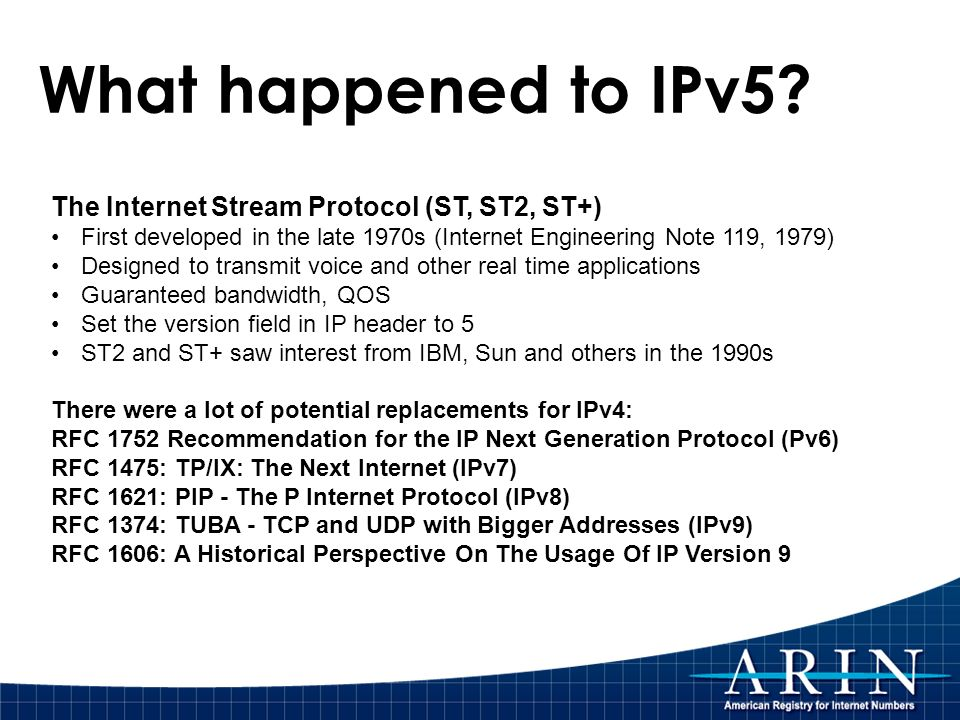 What happened to IPv5.