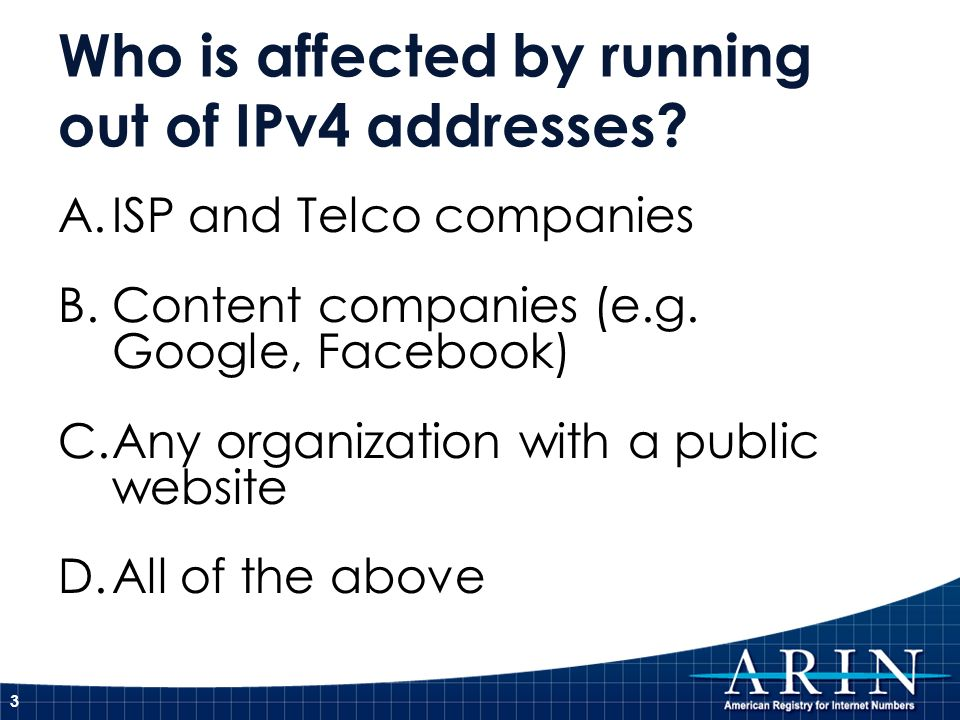 Who is affected by running out of IPv4 addresses.