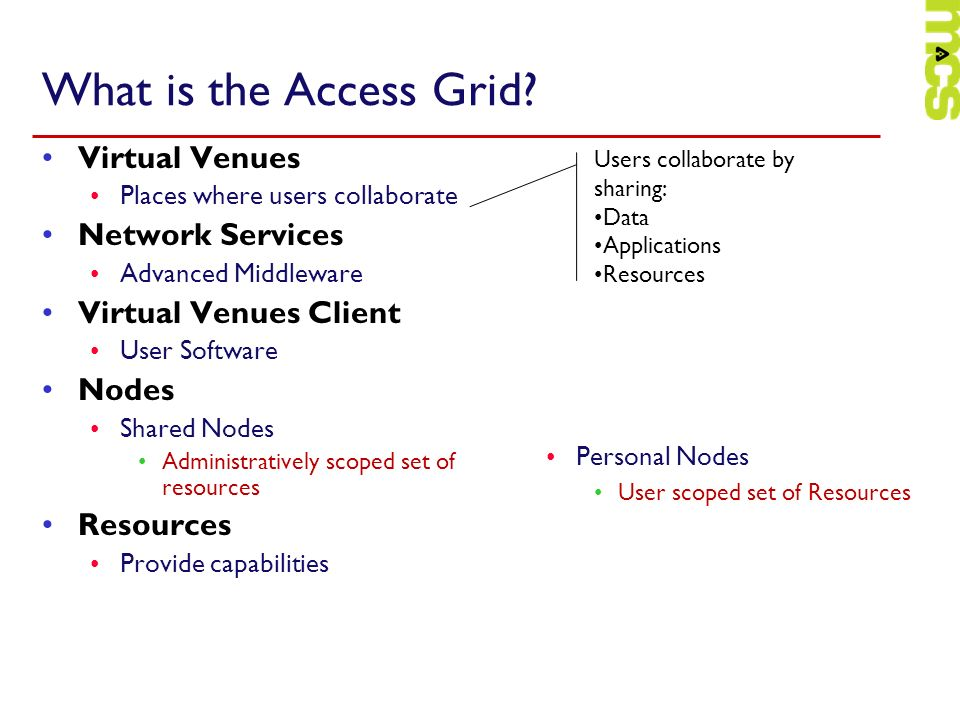 What is the Access Grid.