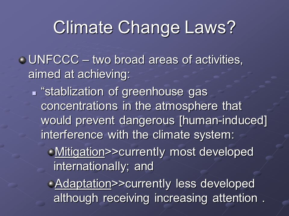 Climate Change Laws.