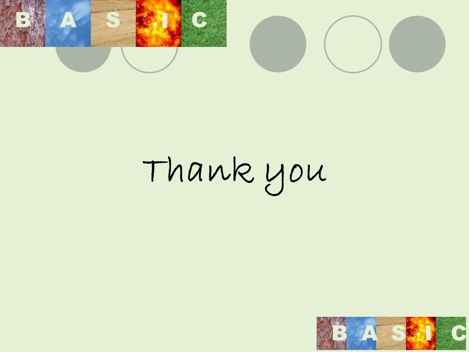 Thank you BAS I C BASIC